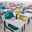 Royalty-Free Stock Photo: Colorful armchairs in class room