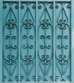 Curved steel pattern on door — Stock Photo
