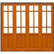 Stock Photo: Thai style pattern on wood can use as windows or doors