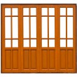 Thai style pattern on wood can use as windows or doors — Stock Photo