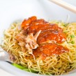 Royalty-Free Stock Photo: Grilled duck with yellow noodle