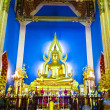 Chinarat Buddha statue in Wat Benchamabophit vertical - Stock Photo