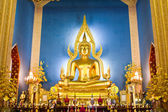 Chinarat Buddha statue in Wat Benchamabophit — Stock Photo