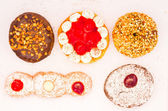 Variety of donut from top — Stock Photo