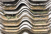 Wet and dirty roof tile — Stock Photo