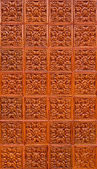 Orange brown thai pattern tile — Stock Photo