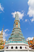 White pagoda in Temple of Emerald Buddha — Stock Photo