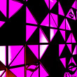 Stock Photo: Abstract pink light behind black