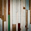 Painted plank wood striped pattern — Foto Stock