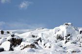 Karlı dağlar — Stok fotoğraf