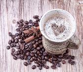 Frisch zubereitete tasse schwarzen kaffee — Stockfoto