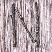 латинский алфавит капитала буква n — Стоковое фото