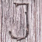 Latin capital alphabet letter J — Zdjęcie stockowe