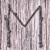 Latin capital alfabeto letra m — Fotografia Stock