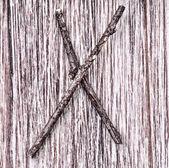 Łacińska litera alfabetu kapitału x — Zdjęcie stockowe