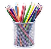 Różne kolorowe ołówki — Zdjęcie stockowe