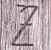 Z list kapitału alfabet łaciński — Zdjęcie stockowe