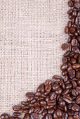Mörkrost kaffebönor — Stockfoto