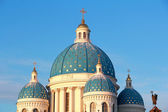 Roof of Orthodoxy church in Petersburg — Stock Photo