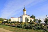 Cuadro con la aldea de monumento de cosaco — Foto de Stock