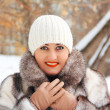 Beautiful young woman in winter coat — Stock Photo #9827504
