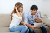Young Couple Dealing with Their Finances — Stock Photo
