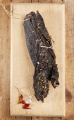 Biltong - dry cured beef meat — Foto Stock