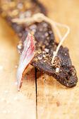 Biltong - carne curada, con corte en seco — Foto de Stock