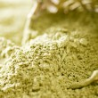 Stock Photo: Matchgreen tepowder , shallow dof