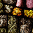 Old dirty stained glass background - Stock Photo