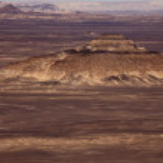 Black Desert in Sahara, western Egypt — Stock Photo #8929375