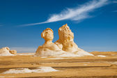 The limestone formation rocks looks like two sphinx in the Whit — Stock Photo