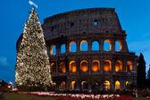 Christmas coliseum — Stock Photo