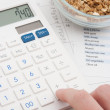 Calculating daily nutrition intake — Stock Photo