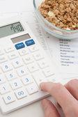 Výpočet denního příjmu výživy — Stock fotografie