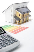 House Energy Efficiency Rating — Stock Photo
