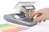 Dům energetické účinnosti hodnocení — Stock fotografie