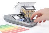 Dom ocena zużycia energii — Zdjęcie stockowe