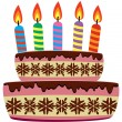 Vector birthday cake — Stock Vector #10029571