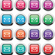 Vector set of mail buttons — Stock Vector #10029576