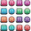 Stock Vector: Vector set of mail buttons