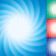 Vector set of abstract star burst backgrounds — Stock Vector #10029616