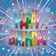 Happy birthday greeting on colorful background vector — Stock Vector #10029624