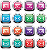 Vector set of mail buttons — 图库矢量图片