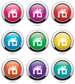 Vector set of home buttons — Stock Vector