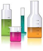 Vector set di vetreria di laboratorio — Vettoriale Stock