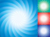 Vector set of abstract star burst backgrounds — Stock Vector