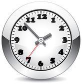 Horloge métal vector — Vecteur