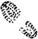 Vector foot print — Stock Vector