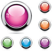 Vector set of glossy buttons — Stock Vector